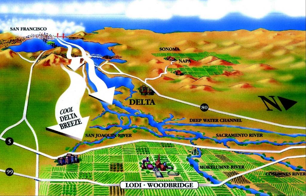 lodi wine region map